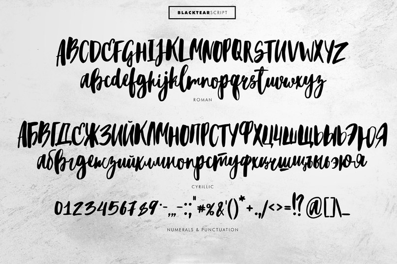 Download Blacktear font (typeface)