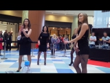 Видео #5 100 девушек станцевали в ТЦ Ауре перед жюри конкурса Мисс Европа плюс