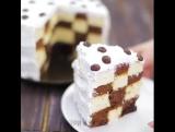 Как сделать торт с шахматной прослойкой.