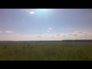 Военный вертолет над миассом