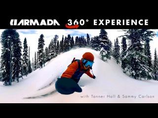 Armada 360° Backcountry Ski Experience starring Tanner Hall and Sammy Carlson (360 Video)