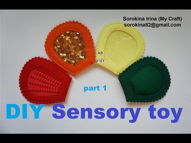DIY Sensorial flower P.1 / МК тактильный цветок Ч.1