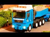 Learn Construction Vehicles THE BLUE TRUCK CEMENT MIXER TRUCK &amp DUMP TRUCK Learn Transport Cartoon