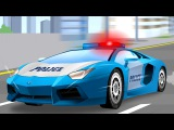 NEW The Blue Police Car Fast Chase - Compilation Service &amp Emergency Vehicles Cars &amp Truck Cartoon