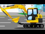 Learn JCB Excavator - Toys Trucks For Kids - Children Video Vehicle & Chi Chi Car for children