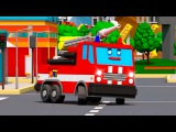 Learn RED Fire Truck w Police Car And Street Racing Car 3D Cartoon Compilation Cars &amp Trucks Stories