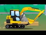 JCB Excavator - Toys Trucks For Kids - Children Video Animation Episodes