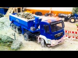 Learn Construction Vehicles THE BLUE TRUCK EXCAVATOR &amp DUMP TRUCK Learn Transport Cartoon