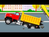 The Truck Tow Truck DUMP TRUCK Cars Vehicle for kids in the City  Cars &amp Truck cartoon for children