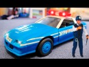 Video for Children. Service Vehicles. Cars Trucks Cartoon for kids - The Blue Police Car