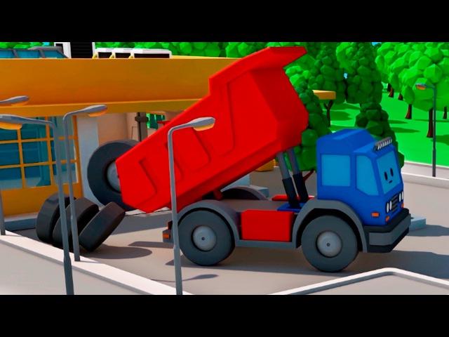 Eğitici çizgi film - Çekici Kamyon ve Vinç - Çocukların en sevdiği enteresan araçlar ve iş makineler