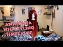 Princess Anastasia Wig Styling Timelapse