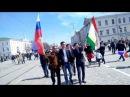 9 май флаг Таджикистан в центр город екатеринбург