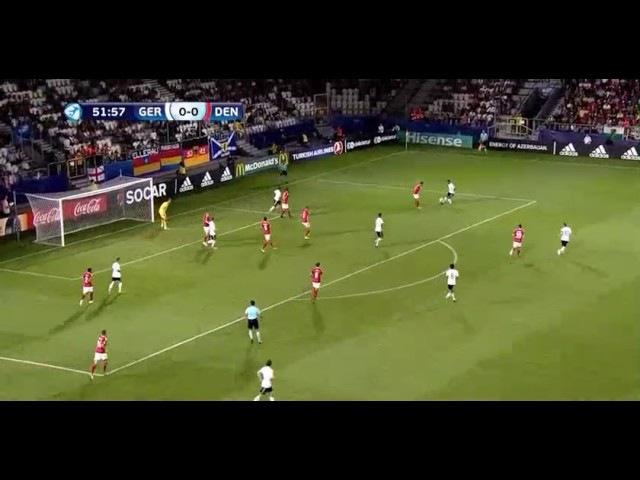 Davie Selke Goal HD - Germany U21 1-0 Denmark U21 22.06.2017