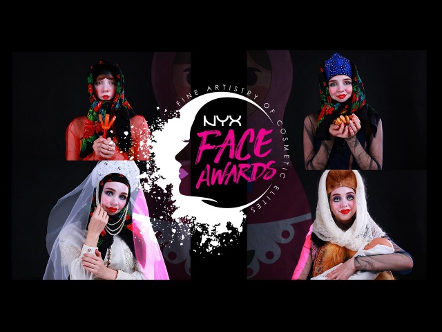 NYX FACE AWARDS RUSSIA 2017 | Russian doll by ROSSA NyxCosmeticsRussia FaceAwardsRUSSIA2017
