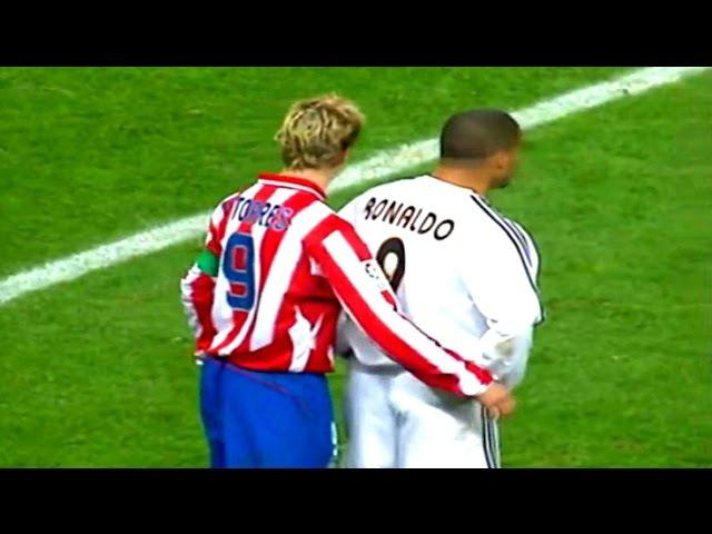 Реал Мадрид 2-0 Атлетико Мадрид. Чемпионат Испании 2003-2004. 14 тур
