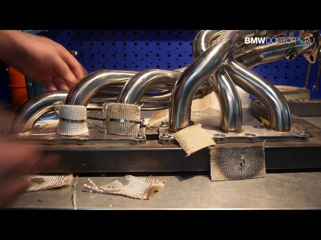 ТЕРМОЛЕНТА. Часть 2: Тест Огнём. Инструкция обмотки. Монтаж коллектора на BMW e70 N52