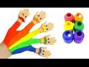 Семья пальчиков на русском языке. Учим цвета и поем песенку про пальчики Finger Family ...