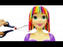 Принцесса Рапунцель Прическа радуга из пластилина Плей До для куклы принцессы Д...
