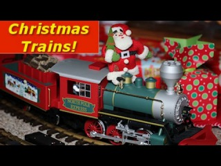 Big Model Trains Around The Christmas Tree (and throughout the whole house!)