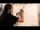Обучение рисованию деревьев при помощи живописи у син Часть 1 Базис рисования деревьев