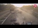шокирующий кадр ужасной аварии