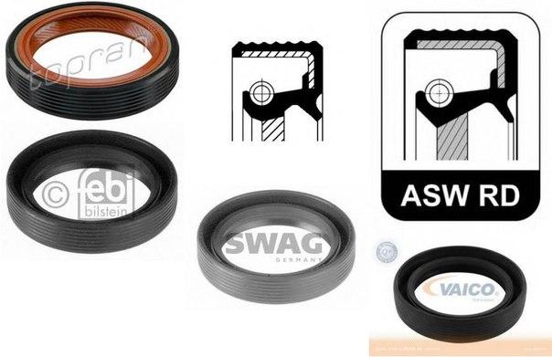 Уплотняющее кольцо, коленчатый вал; Уплотняющее кольцо, промежуточный вал; Уплотняющее кольцо вала, масляный насос; Уплотнительное кольцо вала, приводной вал (масляный насос) для AUDI ALLROAD (4BH, C5)