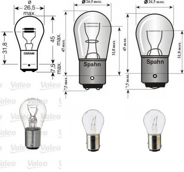 Лампа накаливания, фонарь сигнала торможения; Лампа накаливания, задняя противотуманная фара; Лампа накаливания для AUDI CABRIOLET (8G7, B4)
