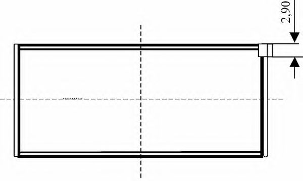 Шатунный подшипник для AUDI QUATTRO (85)