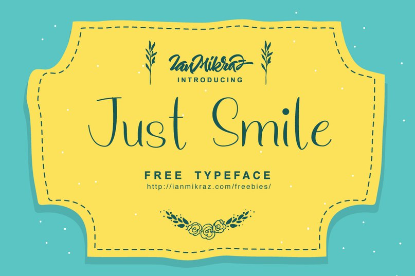 Download Just Smile font (typeface)