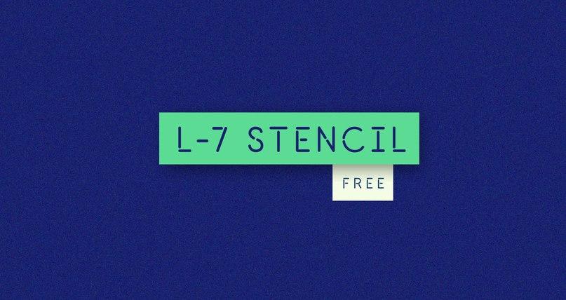 fuente L-7 Stencil