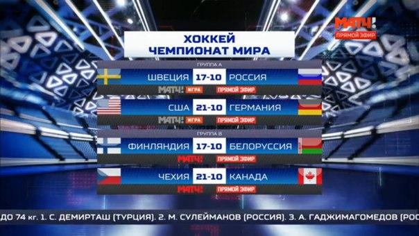Расписание чемпионата мира по хоккею 2017 молодежная сборная