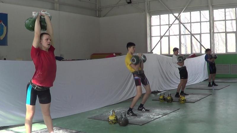 Весовая категория 73 кг- Толчок, юноши, 24 кг