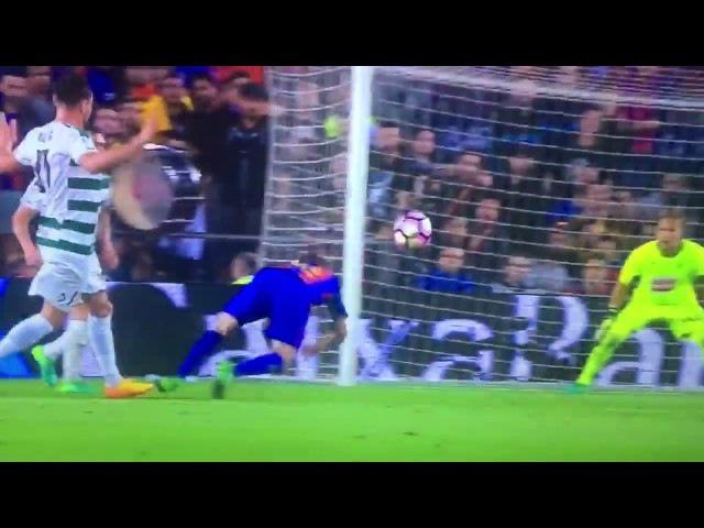 Penalti a Jordi Alba para el F.C.Barcelona