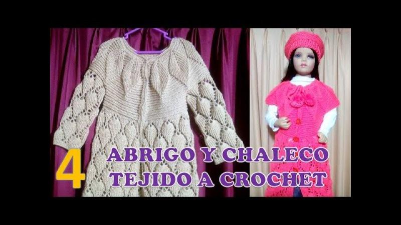 ABRIGO, SUÉTER Y CHALECO (parte 4) PARA NIÑAS DE 6 A 9 AÑOS TEJIDO A CROCHET PASO A PASO