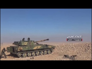 Lens media war .. new scenes of battles between the Syrian army and its allies and Daesh Brive h ...