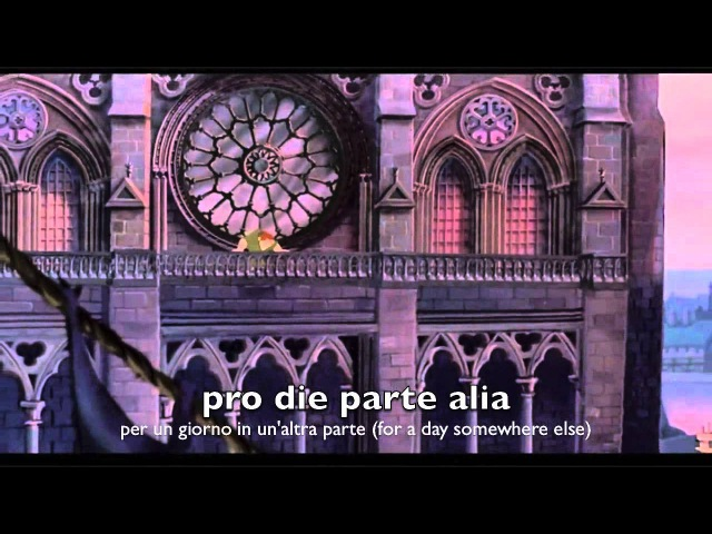 The Hunchback of Notre Dame - Foras / Out There - CLASSICAL LATIN (Italian English subtitles)