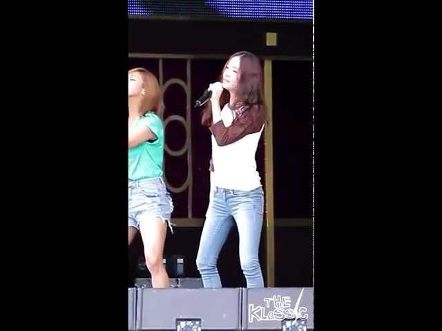 120814 f(x) Electric Shock Rehearsal Krystal fancam @ DMZ Peace Concert