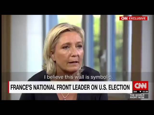 Marine Le Pen était hier soir l'invitée de l'émission The World Right Now sur CNN International