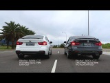 BMW 320i GT Armytrix Quad-Tips Exhaust V.S. BMW 328i GT Factory - Sound Comparison