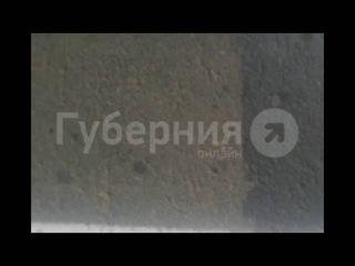 Нарисованные заплатки на дороге. Хабаровск.