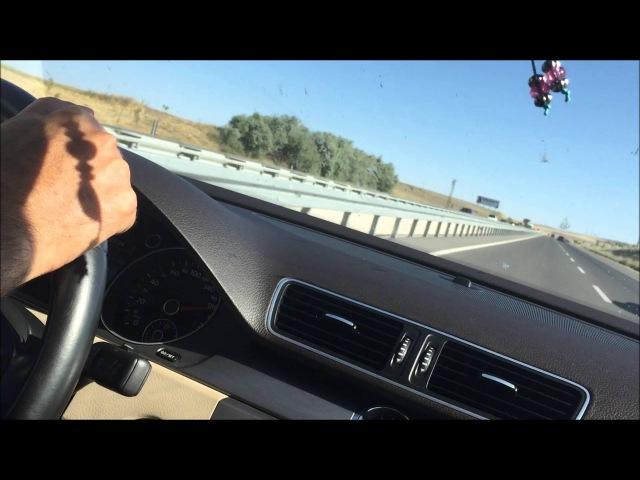 VW Passat B7 1.4TSI vs BMW 518D F10, race from 140-190km/h