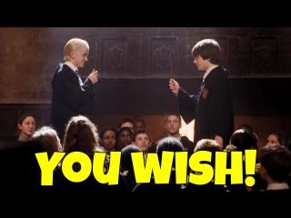 Фраза YOU WISH!  из фильма Гарри Поттер и Тайная комната