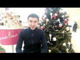 Жаңа жылдық құттықтау! Алматы Жүк тасымалдау бөлімшесі жастарының атынан