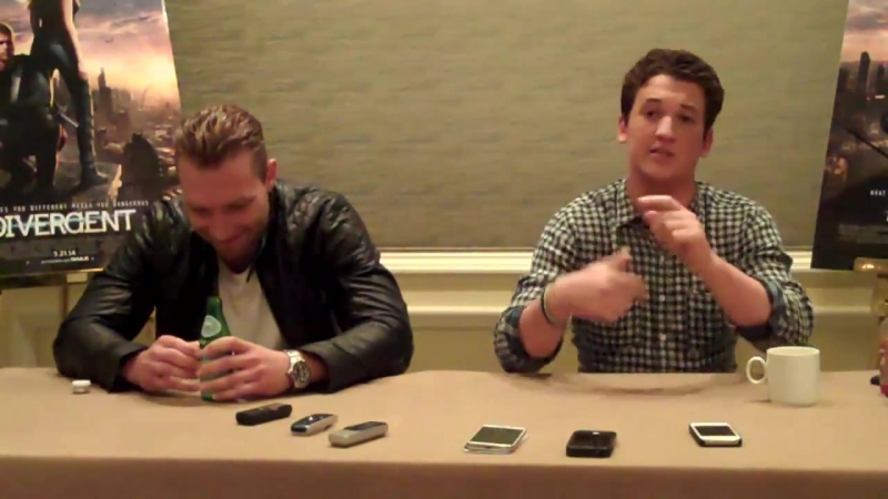 Miles Teller_Jai Courtney Interview - Divergent _ The MacGuffin