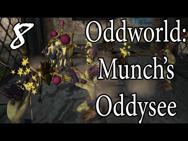 ВОЙНА СО СЛИГАМИ =walkthrough let's play= Oddworld: Munch's Oddysee. Part 8 (Полное прохождение)