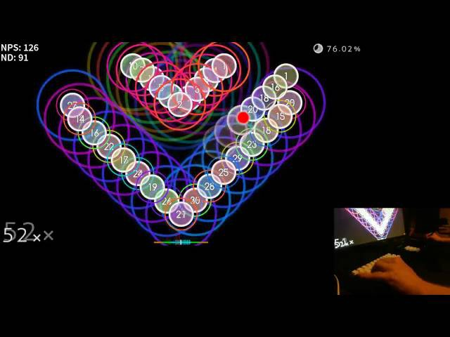 McOsu! liveplay - Knife Party - Centipede [meme] 0.1x speed, 72.38%
