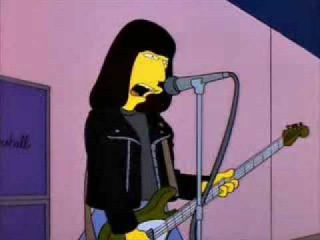 Ramones - Blitzkrieg Bop live on the Simpsons