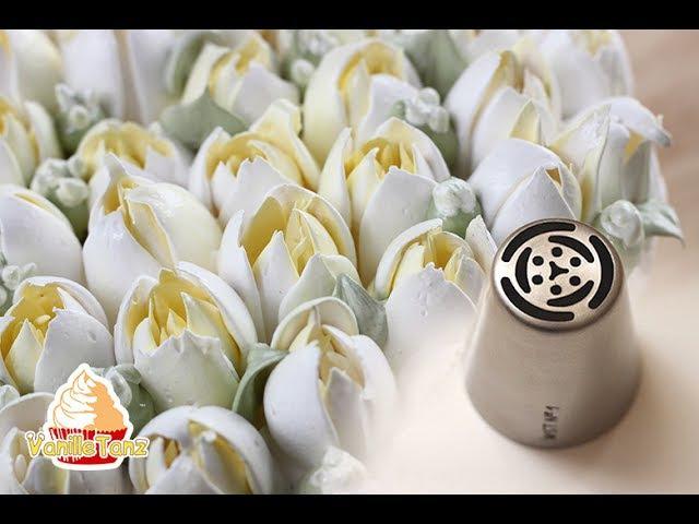 Wie man richtig mit russischen Tüllen Blumen spritzt GELING TIPPS !