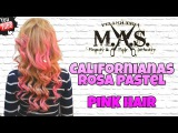 Como Hacer Mechas Californianas Rosas en cabello Rubio. Blondy & pink hair  tutorial